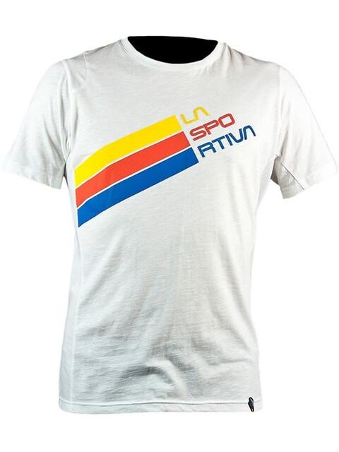 La Sportiva M's Stripe Logo T-Shirt White